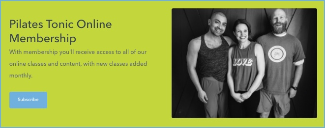 banner image Pilates Tonic Online